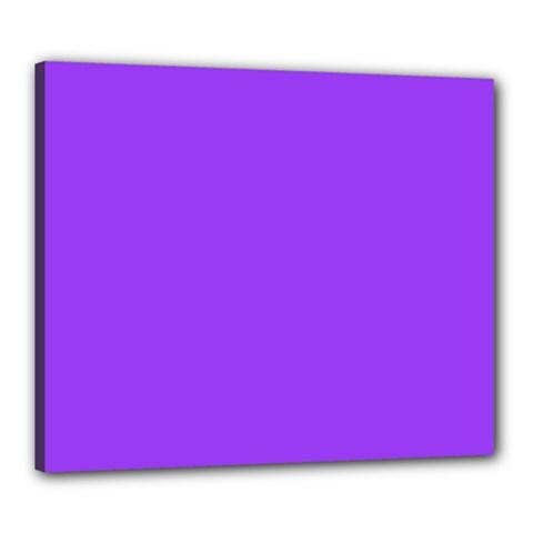 Bright Fluorescent Day glo Purple Neon Canvas 24  x 20