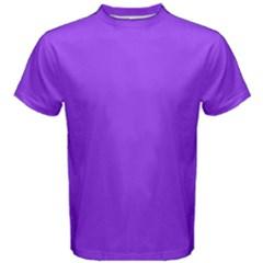 Bright Fluorescent Day glo Purple Neon Men s Cotton Tee