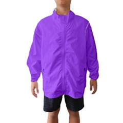 Bright Fluorescent Day glo Purple Neon Wind Breaker (Kids)