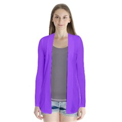 Bright Fluorescent Day glo Purple Neon Cardigans