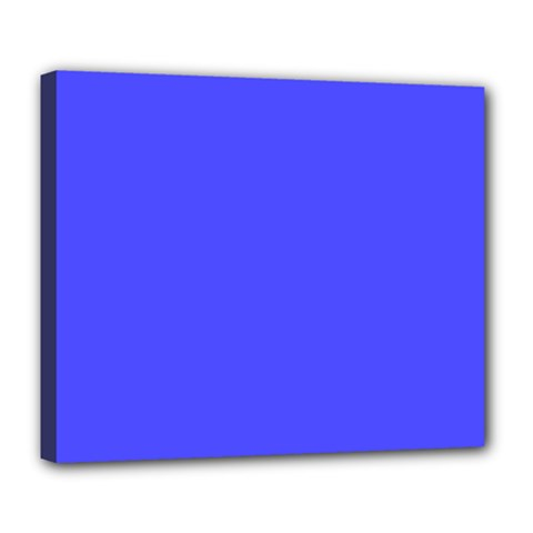 Bright Electric Fluorescent Blue Neon Deluxe Canvas 24  x 20