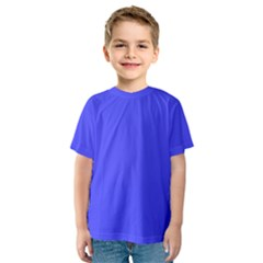Bright Electric Fluorescent Blue Neon Kids  Sport Mesh Tee