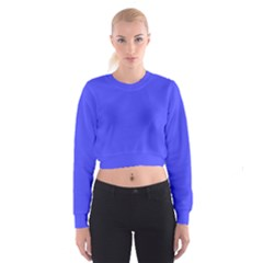 Bright Electric Fluorescent Blue Neon Cropped Sweatshirt