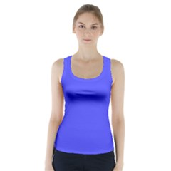 Bright Electric Fluorescent Blue Neon Racer Back Sports Top
