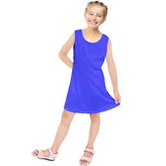Bright Electric Fluorescent Blue Neon Kids  Tunic Dress