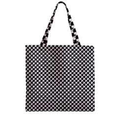 Black and White Checkerboard Weimaraner Zipper Grocery Tote Bag