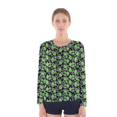 Roses pattern Women s Long Sleeve Tee