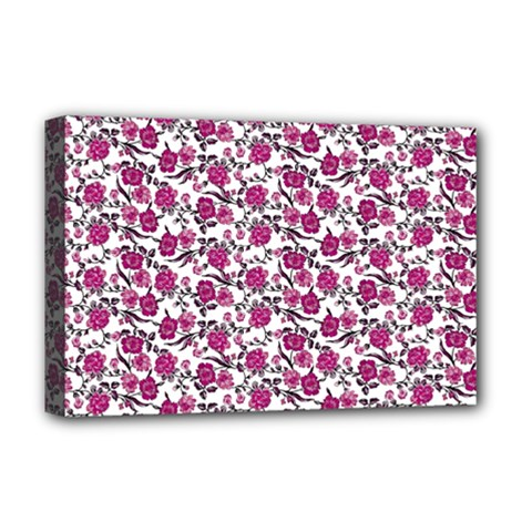 Roses pattern Deluxe Canvas 18  x 12