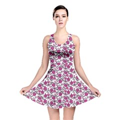 Roses pattern Reversible Skater Dress