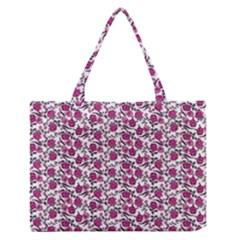 Roses pattern Medium Zipper Tote Bag