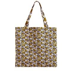 Roses pattern Zipper Grocery Tote Bag