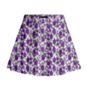 Roses pattern Mini Flare Skirt View1