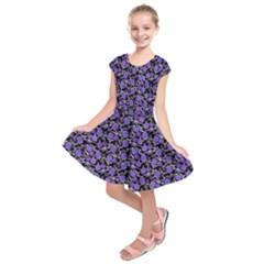 Roses pattern Kids  Short Sleeve Dress