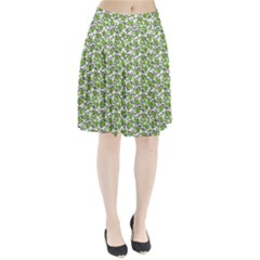 Roses pattern Pleated Skirt