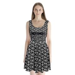 Roses pattern Split Back Mini Dress