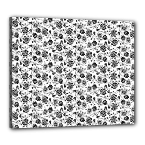 Roses pattern Canvas 24  x 20