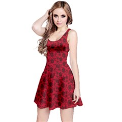 Roses pattern Reversible Sleeveless Dress