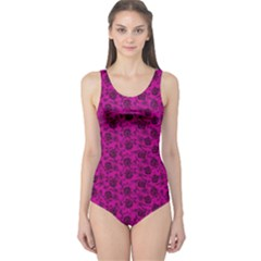 Roses pattern One Piece Swimsuit