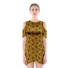 Roses pattern Shoulder Cutout One Piece