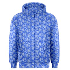 Roses pattern Men s Zipper Hoodie