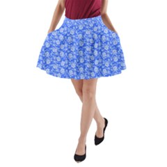 Roses pattern A-Line Pocket Skirt