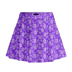 Roses pattern Mini Flare Skirt