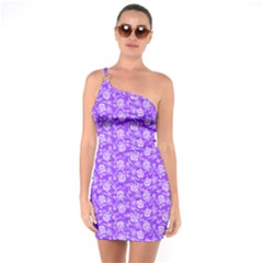 Roses Pattern One Soulder Bodycon Dress