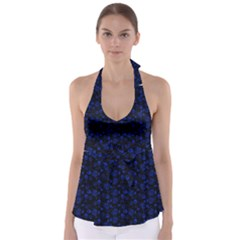 Roses pattern Babydoll Tankini Top