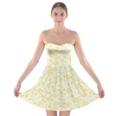 Roses pattern Strapless Bra Top Dress