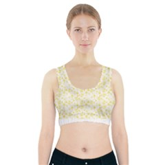 Roses pattern Sports Bra With Pocket