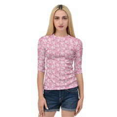 Roses pattern Quarter Sleeve Tee