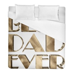 Best Dad Ever Gold Look Elegant Typography Duvet Cover (Full/ Double Size)