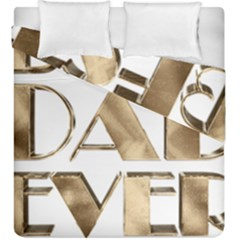Best Dad Ever Gold Look Elegant Typography Duvet Cover Double Side (King Size)