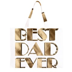 Best Dad Ever Gold Look Elegant Typography Large Tote Bag