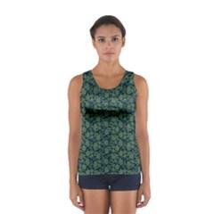 Roses pattern Women s Sport Tank Top
