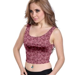 Roses pattern Crop Top