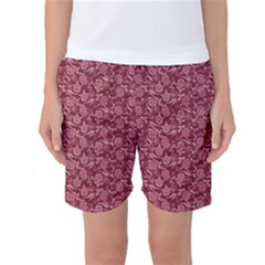Roses pattern Women s Basketball Shorts