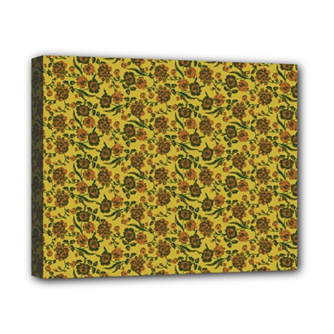 Roses pattern Canvas 10  x 8