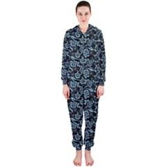 Roses pattern Hooded Jumpsuit (Ladies)