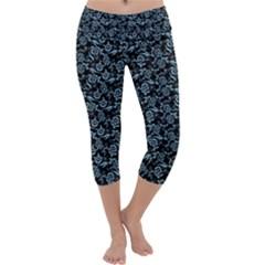 Roses pattern Capri Yoga Leggings