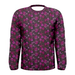 Roses pattern Men s Long Sleeve Tee