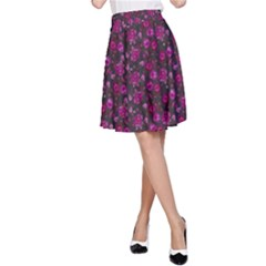 Roses pattern A-Line Skirt