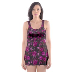 Roses pattern Skater Dress Swimsuit