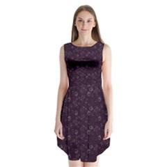 Roses Pattern Sleeveless Chiffon Dress