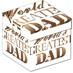 World s Greatest Dad Gold Look Text Elegant Typography Storage Stool 12