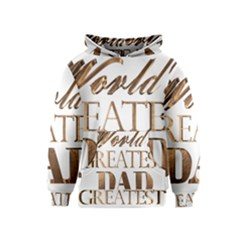 World s Greatest Dad Gold Look Text Elegant Typography Kids  Pullover Hoodie