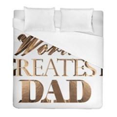 World s Greatest Dad Gold Look Text Elegant Typography Duvet Cover (Full/ Double Size)
