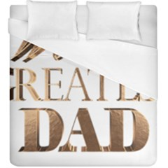 World s Greatest Dad Gold Look Text Elegant Typography Duvet Cover (King Size)