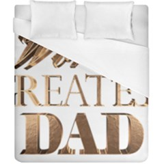 World s Greatest Dad Gold Look Text Elegant Typography Duvet Cover (California King Size)