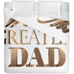 World s Greatest Dad Gold Look Text Elegant Typography Duvet Cover Double Side (King Size)